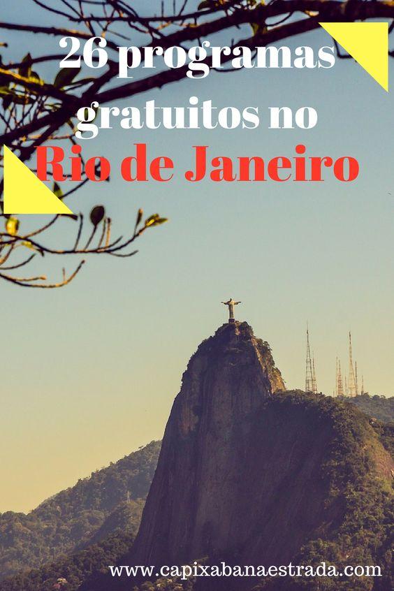 26 programas gratuitos no Rio de Janeiro
