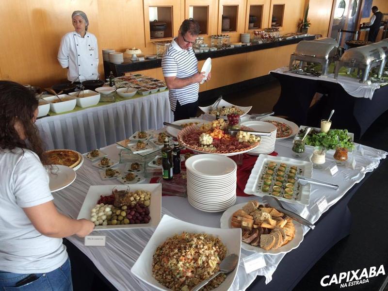 almoço no hotel senac ilha do boi em vitória