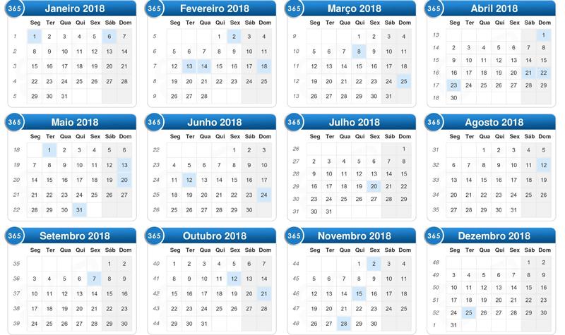 Feriados de 2018 - Hora de programar suas viagens