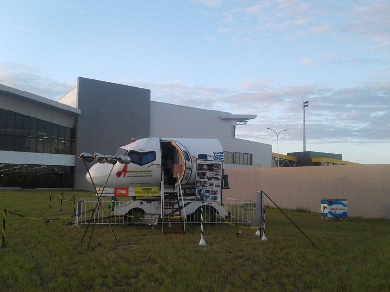 Simulador de voo está aberto para visitação em Vitória (1)