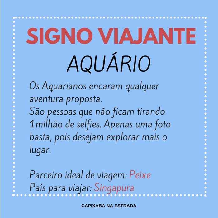 signo viajante - aquário